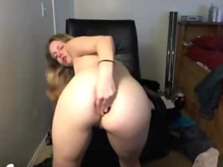 Amateur Blonde Dildoing Ass And Pussy