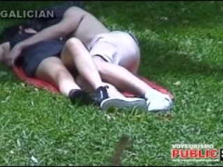 City Park Lovers - Public Voyeur Sex. Spy cam couple fuck in the bushes.