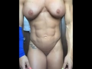 Fbb flexing naked makes you cum hard