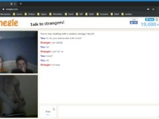 OMEGLE two girls ask for my cum and get surprised